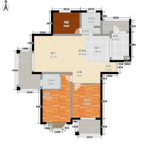 曹路家苑3室0厅2卫1厨140.00㎡户型图