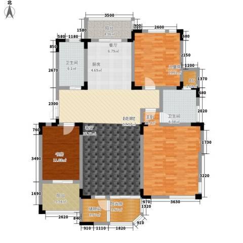 第六大道3室0厅2卫0厨183.00㎡户型图