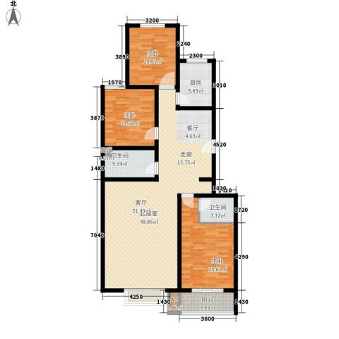 观筑壹号3室0厅2卫1厨140.00㎡户型图