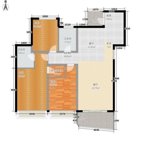 国际中港城3室0厅2卫0厨147.00㎡户型图