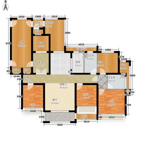 凯瑞米兰公馆4室1厅2卫1厨145.52㎡户型图
