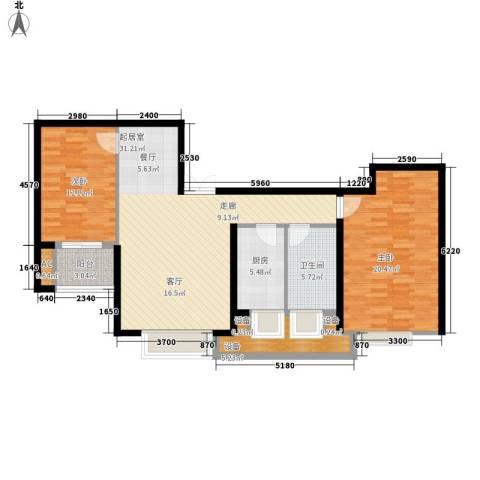 东壹号2室0厅1卫1厨97.00㎡户型图