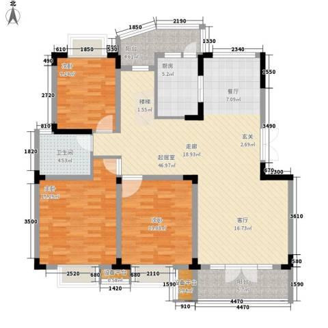青麓雅园3室0厅1卫1厨152.00㎡户型图