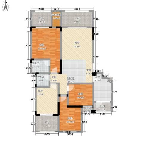 宇界维诗卡3室1厅2卫1厨139.00㎡户型图
