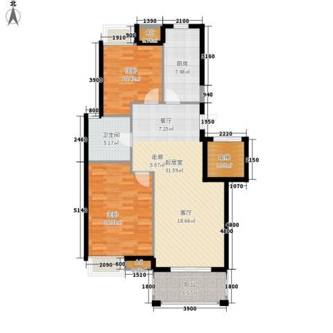 皇马公寓2室0厅1卫1厨98.00㎡户型图