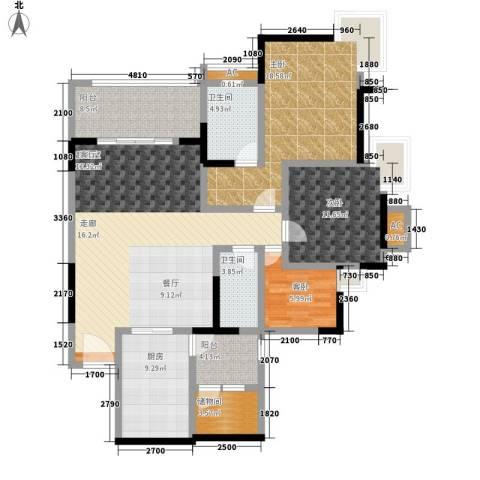 天邻风景3室0厅2卫1厨127.00㎡户型图