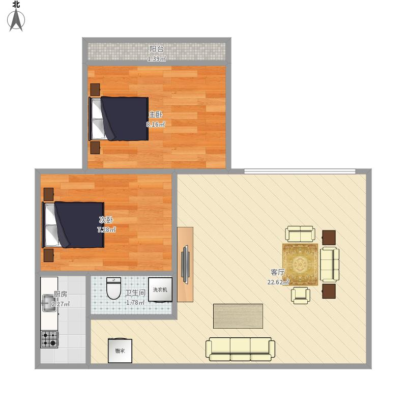 汉飞9号楼2房