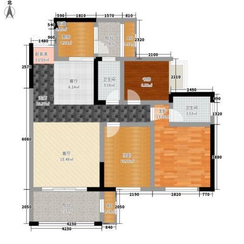 协信彩云湖3室0厅2卫1厨130.00㎡户型图