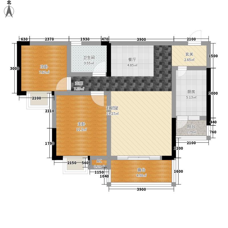橄榄郡69.62㎡3、4、6、7号楼2面积6962m户型