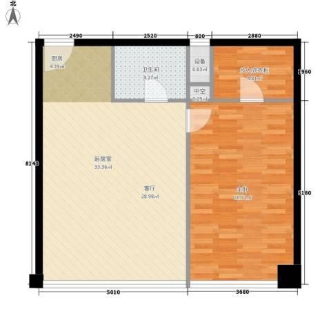 协和广场1室0厅1卫0厨96.00㎡户型图