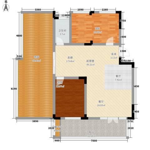 青麓雅园2室0厅1卫0厨173.00㎡户型图