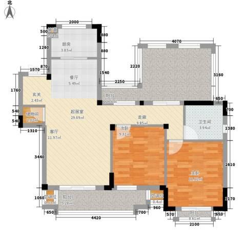新城忆华里2室0厅1卫1厨114.00㎡户型图
