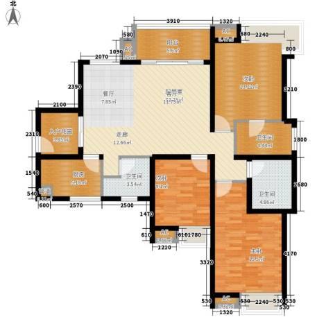 世家城南一号3室0厅3卫1厨126.00㎡户型图