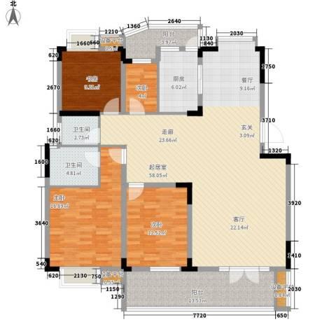 青麓雅园4室0厅2卫1厨189.00㎡户型图