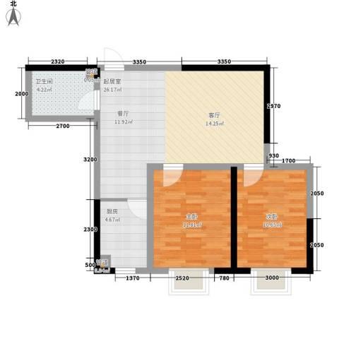 金地花园2室0厅1卫1厨82.00㎡户型图