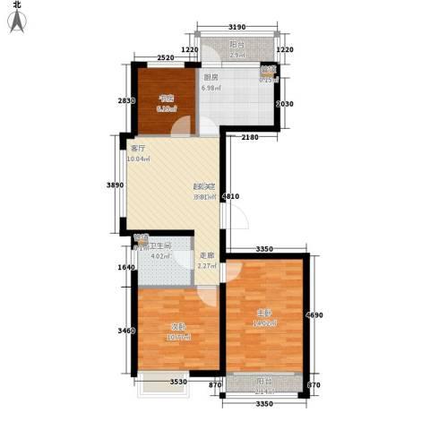 西城国际3室0厅1卫1厨73.32㎡户型图