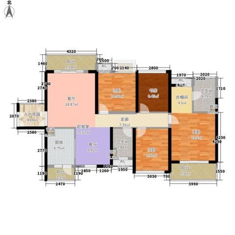 中航天逸4室0厅2卫1厨133.00㎡户型图