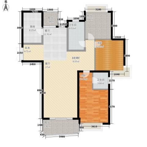 国际中港城2室0厅2卫1厨158.00㎡户型图