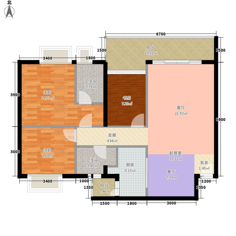 黔城美景106.46㎡黔城美景户型图3室2厅2卫1厨户型10室