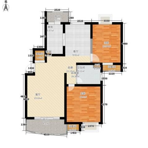 国际华城2室0厅1卫1厨104.00㎡户型图
