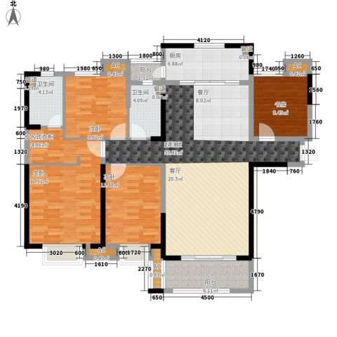 中海国际社区4室0厅2卫1厨171.00㎡户型图