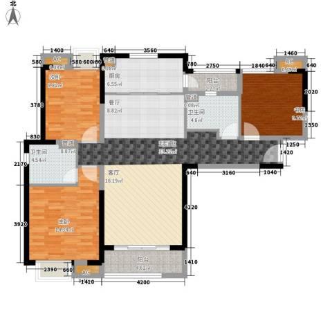 中海国际社区3室0厅2卫1厨139.00㎡户型图
