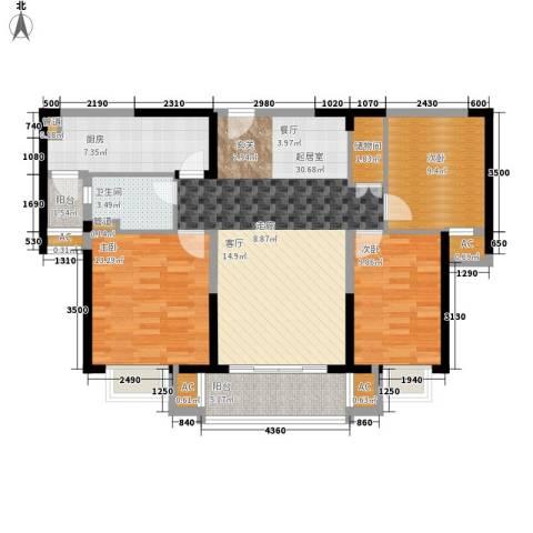 中海国际社区3室0厅1卫1厨123.00㎡户型图