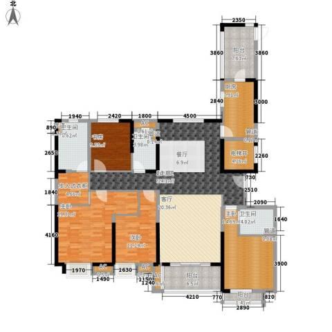 中海国际社区4室0厅3卫1厨224.00㎡户型图