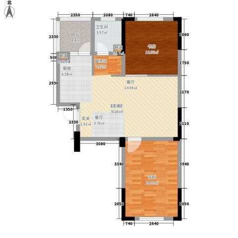 西城国际2室0厅1卫0厨83.95㎡户型图