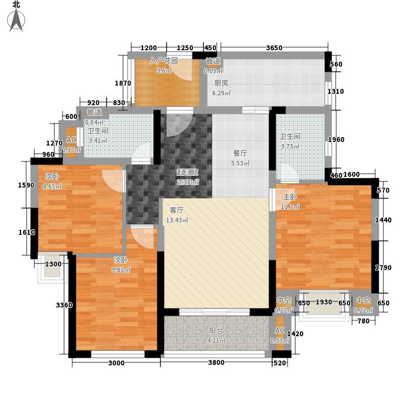 中海国际社区108.00㎡东郡一期7#8#9#楼D户型
