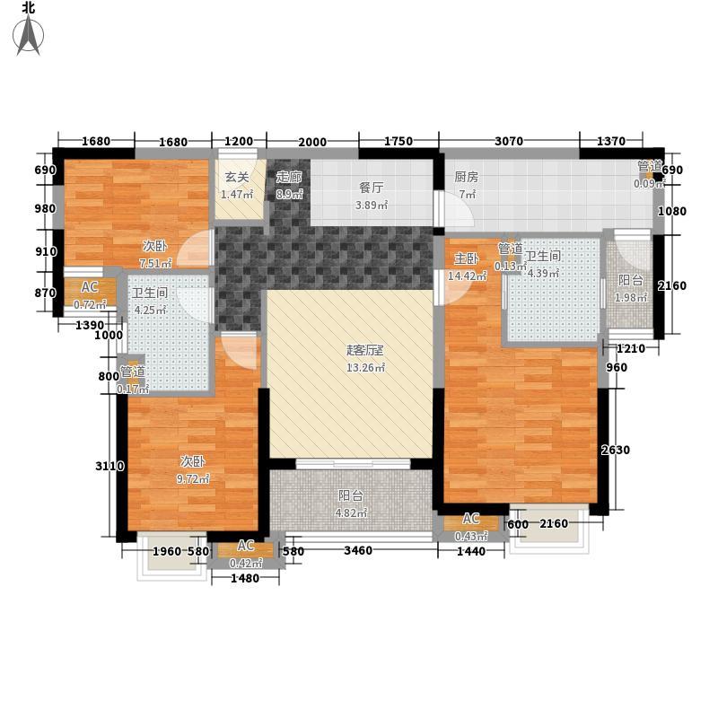中海国际社区115.00㎡东郡B区1#2#楼G户型