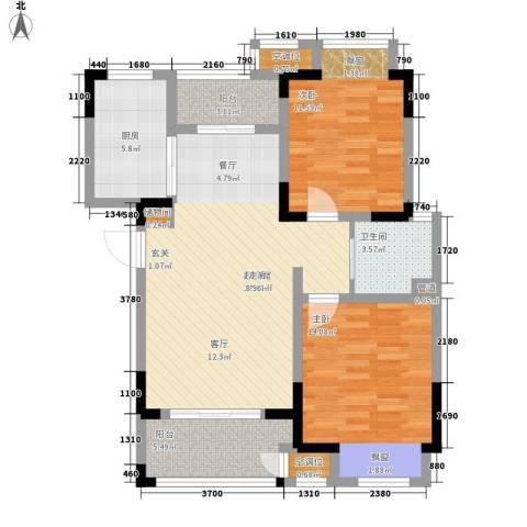 新城忆华里2室0厅1卫1厨85.00㎡户型图