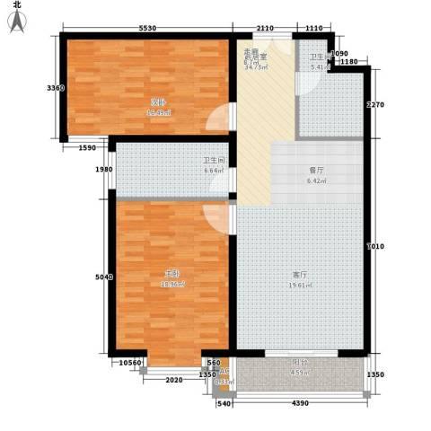 上都名苑2室0厅2卫0厨123.00㎡户型图