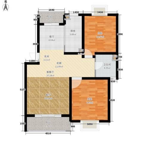 多摩远景2室1厅1卫1厨95.00㎡户型图