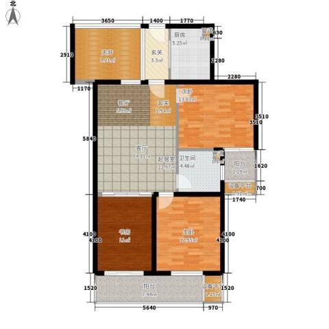 国际中港城3室0厅1卫1厨108.00㎡户型图