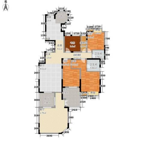 中海国际社区4室1厅2卫0厨210.00㎡户型图