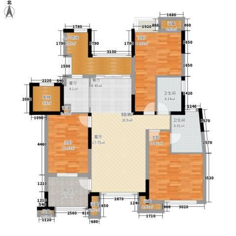 天景雨山前3室2厅2卫0厨109.00㎡户型图