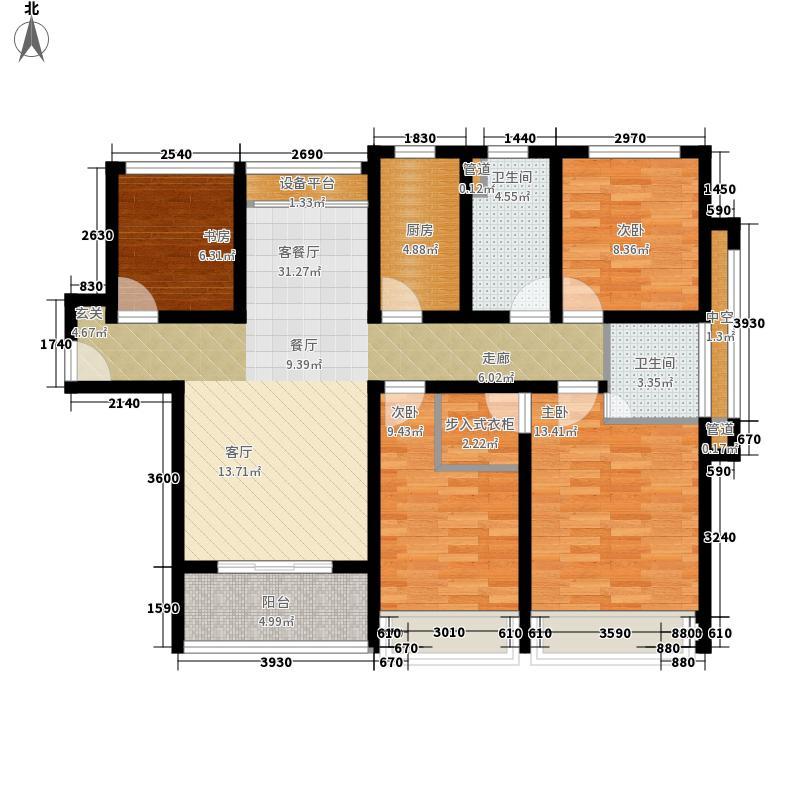 凯瑞米兰公馆125.00㎡3#、5#楼C2户型