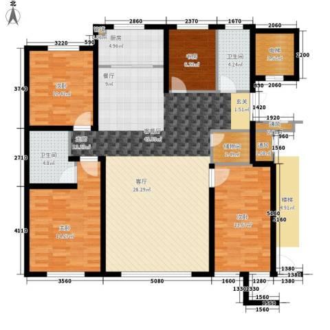 亨林名都4室1厅2卫1厨154.00㎡户型图