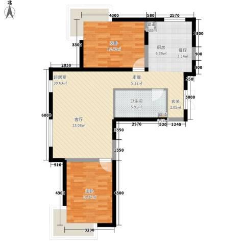 金地花园2室0厅1卫0厨100.00㎡户型图