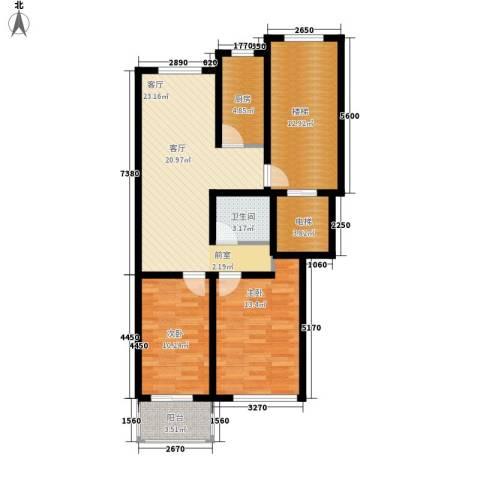 东昌公寓2室1厅1卫1厨81.00㎡户型图