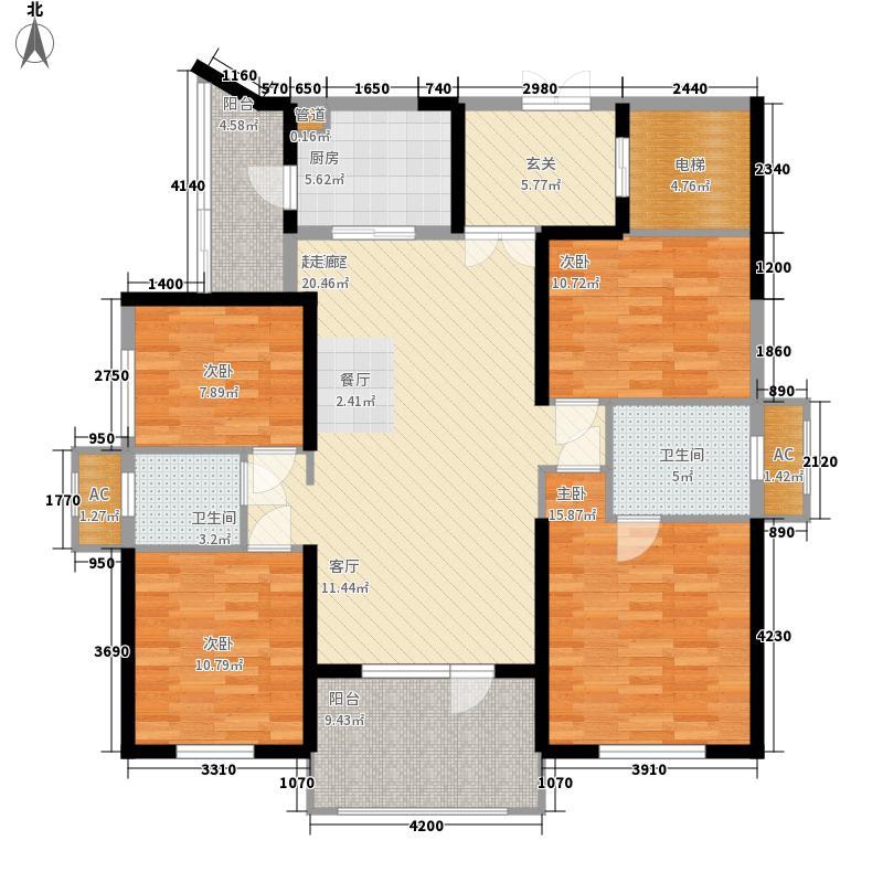 龙阳1号148.00㎡12#C2户型4室2厅