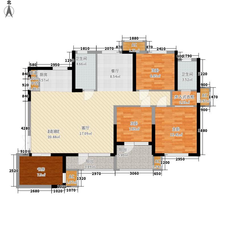 龙阳1号147.00㎡5#C4户型5室2厅