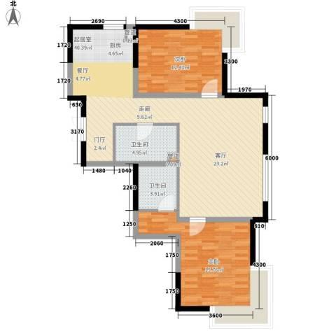 金地花园2室0厅2卫0厨110.00㎡户型图