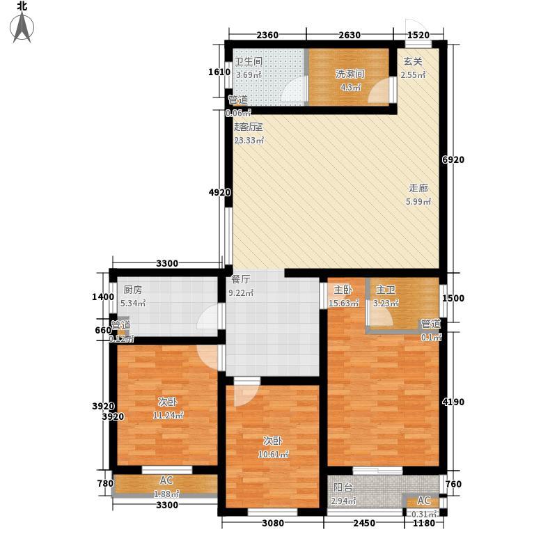 富丽佳园双子座136.58㎡A面积13658m户型