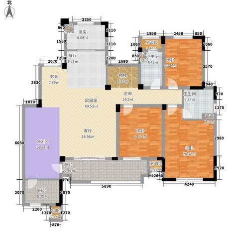 新城忆华里3室0厅2卫1厨171.00㎡户型图