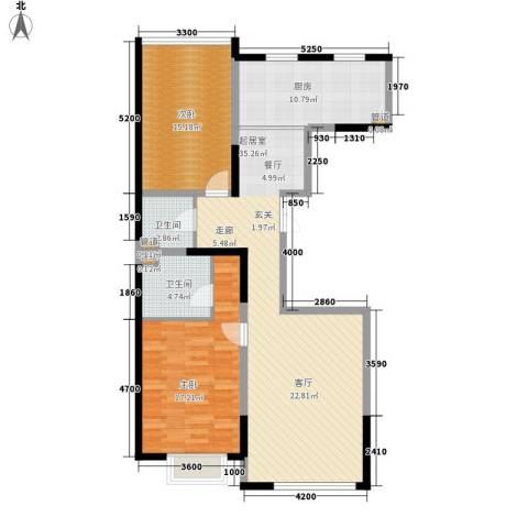 金地花园2室0厅2卫1厨123.00㎡户型图