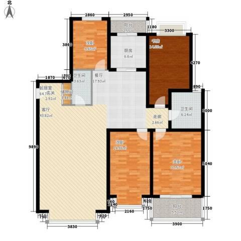 三晋绿苑4室0厅2卫1厨207.00㎡户型图