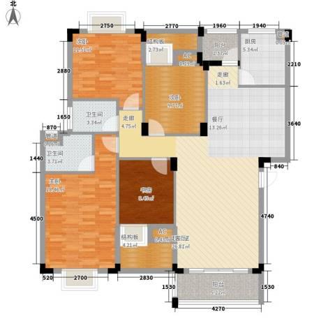 愉景花园4室0厅2卫1厨119.34㎡户型图