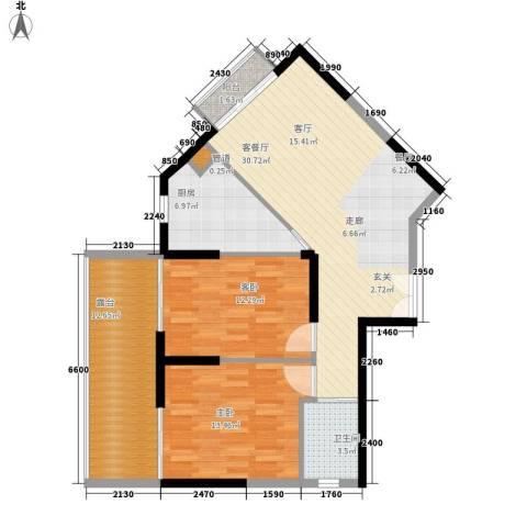钢琴家 珠海2室1厅1卫1厨110.00㎡户型图